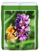 Lavender Bee Duvet Cover