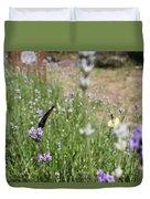 Lavender Butterflies Duvet Cover