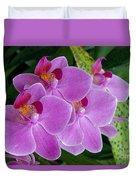 Lavender Colored Orchids Duvet Cover