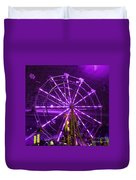 Lavender Ferris Wheel Duvet Cover