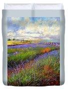 Lavender Field Duvet Cover by David Stribbling