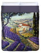 Lavender Fields Tuscan By Prankearts Fine Arts Duvet Cover