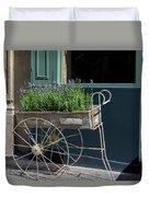 Lavender Flower Cart In Montmarte Paris Duvet Cover