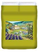Lavender Hills Tuscany By Prankearts Fine Arts Duvet Cover