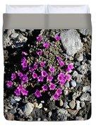 Lavender In The Rocks Duvet Cover