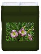Lavender Lily Triad Duvet Cover