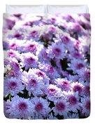 Lavender Mums Duvet Cover