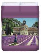 Lavender Picker - Abbaye Senanque - Provence Duvet Cover