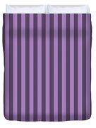 Lavender Purple Striped Pattern Design Duvet Cover