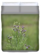 Lavender Purple Verbena Wildflowers  Duvet Cover