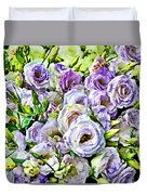 Lavender Ranunculus  Duvet Cover