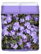 Lavender Rhododendrons Duvet Cover