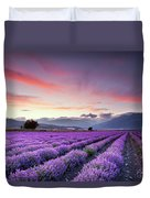 Lavender Season Duvet Cover