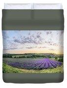 Lavender Sunset Panorama Duvet Cover