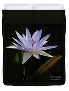 Lavender Tropical Water Lily Duvet Cover
