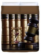 Law And Justice  Duvet Cover