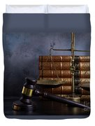 Law And Justice II Duvet Cover