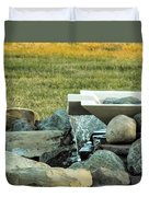 Lawn Water Feature Duvet Cover