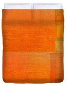 Layer Study - Orange Duvet Cover