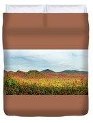 Layered Adirondack Colors Duvet Cover