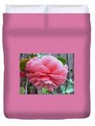 Layers Of Pink Camellia - Digital Art Duvet Cover