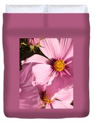 Layers Of Pink Cosmos Duvet Cover