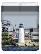 Lazaretto Point Lighthouse Duvet Cover