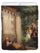 Lazarus And The Rich Man 1865 Duvet Cover