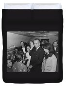 Lbj Taking The Oath On Air Force One Duvet Cover
