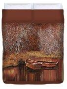 Le Barche Sullo Stagno Duvet Cover