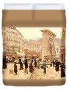 Le Boulevard St Denis - Paris Duvet Cover