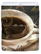 Le Cafe Dark Duvet Cover