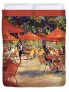 Le Cafe Du Jardin  Duvet Cover