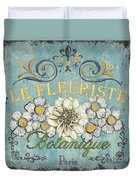 Le Fleuriste De Botanique Duvet Cover