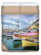 Le Fortune At Nice Harbor, France Duvet Cover