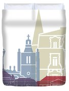 Le Havre Skyline Poster Duvet Cover