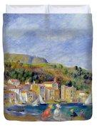 Le Lavandou Duvet Cover by Pierre Auguste Renoir
