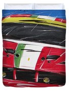 Le Mans Ferrari 458 Duvet Cover