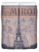 Le Miroir - Paris Duvet Cover
