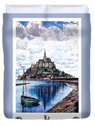 Le Mont, Saint Michel, France Duvet Cover