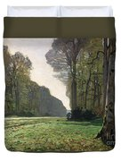 Le Pave De Chailly Duvet Cover by Claude Monet