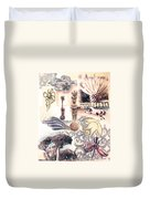 Le Petite Pig Does Fly Duvet Cover