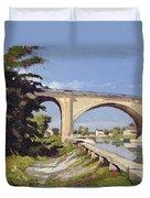 Le Pont Canal A Briare Duvet Cover