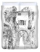Le Pontis Saint-paul De Vence France Duvet Cover