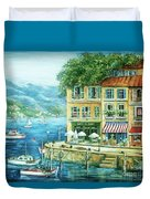 Le Port Duvet Cover by Marilyn Dunlap
