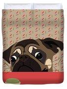 Le Pug Et Le Macaron Duvet Cover