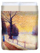 Le Puy In The Snow 1889 Duvet Cover