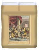 Le Roi, Le Milan, Et Le Chasseur (the King, The Kite, And The Hunter) Duvet Cover