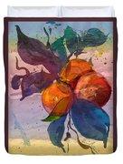 Le Temps Des Oranges Duvet Cover