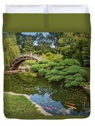 Lead The Way - The Beautiful Japanese Gardens At The Huntington Library With Koi Swimming. Duvet Cover